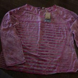 Pink long sleeve new Prana top